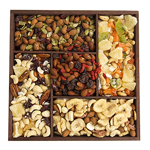 The Deluxe 5-Variety Trail Mix Sampler, Fruit and Nuts Gift Tray, Perfect as a Thank You Gift or for Any Occasion, Small-Batch Kettle Roasted For Superior Freshness, Nuts Never Tasted This Good (Yogurt Covered Dried Cherries compare prices)