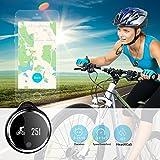 Plustore-Waterproof-Bluetooth-Bracelet-Pedometer-Calorie-Bicycle-Sleep-Monitoring-Smartwatch-Black