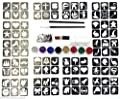 Glitter Tattoo Kit 22 - Princess And Super Hero 96 Girls And Boys Mini Stencils 8 Glitters Gems Glue