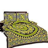 Ethnic Treat Multi-Color Checkered Double Bedsheet With Pillow Covers (1 Double Bedsheet, 2 Pillow Covers )