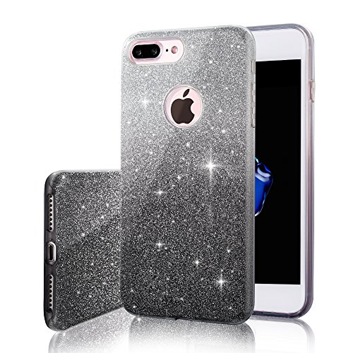 black glitter iphone 7 plus case