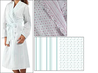 Femmes Polka Dot Robe de chambre femme argent à Capuche Doux Polaire Wrap Peignoir
