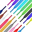 Shoe Laces Flat White or Black Coloured Trainers Hi-tops Football Boot Hiking Laces Shoelaces New Suitable for all brands including Nike Adidas Converse Puma Vans