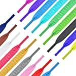 Shoe laces Flat Coloured Trainers Hi-...