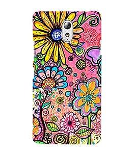 Sun Flower Garden 3D Hard Polycarbonate Designer Back Case Cover for Lenovo Vibe P1M
