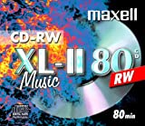 Maxell CD-RW 80 Storage Media (Music 80 minutes) - Single disc in jewel case