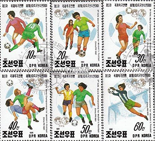 Nord-Korea 3249-3254 (kompl.Ausg.) gestempelt 1991 Fußball-WM der Damen (Briefmarken für Sammler)