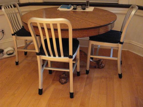 Medium/Black- Chair Floor Protectors -8 Pack Barstool