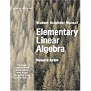 Elementary Linear Algebra, Student Solutions Manual