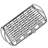 Fish Grill Basket (sm) - PERFECT FOR LARGE THICK FISHES - BBQ Rack Made From Dishwasher Safe Stainless Steel with Wire Mesh Food Holder - Also for Grilling Barbecue Vegetables & Shrimp - Cave Tools