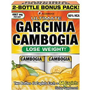 With Ultimate Garcinia Cambogia, You'll Experience Powerful Weight Loss Like Never Before. Reclaim a Thinner, Healthier, Sexier Body - Garcinia Cambogia Dietary Supplement, Caplets, 42 count BONUS 2 PACK