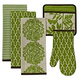 Product Image DwellStudio® for Target® Foliage 5-pc. Kitchen Set - Green/Black
