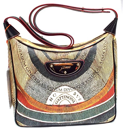 GATTINONI BORSA DONNA G120FWA06003-100 PLAN SHOULDER BAG 2 BORSA MULTICOLOR