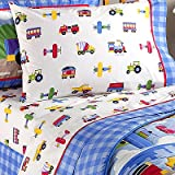 Olive Kids Trains, Planes, & Trucks Queen Sheet Set