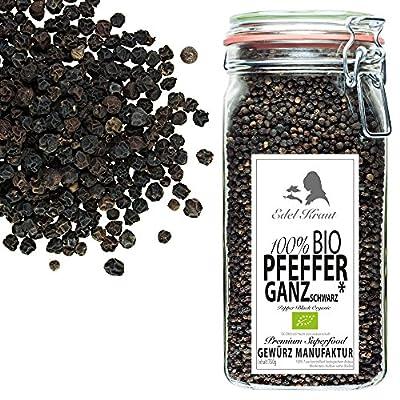 EDEL KRAUT | BIO PFEFFER SCHWARZ GANZ im Premium Glas - premium organic pepper black 750g von Health Discounter e.K. bei Gewürze Shop