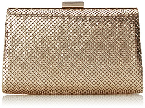 la-regale-mesh-frame-trapezoid-clutch-light-gold-one-size