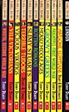 Terry Deary Horrible Histories 11 book pack collection set includes: Awesome Egyptians, Loathsome London, Frightful First World War, Groovy Greeks, Measly Middle Ages, Rotten Romans, Slimy Stuarts, Terrible Tudors, Vicious Vikings, Vile Victorians,