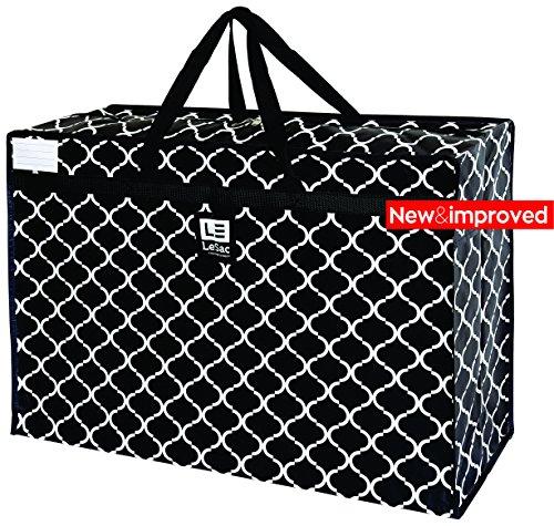 Le Sac Large Super Lightweight Travel Bag Weekender Duffel Bag Shoulder Tote, Vintage Print (Garment Travel Bag On Wheels compare prices)