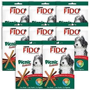 Fido Picnic Festival Friandises pour chien Boeuf, Poulet & Agneau 126 g 15 bâtonnets - Lot de 8 (120 bâtonnets)