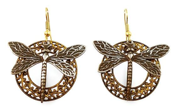 Filigree Dragonfly Earrings