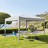 3 x 3m Foldable Garden Gazebo - Colour GREY - Epoxy coated ALUMINIUM - High quality - EASY UP system: put up and take down in a matter of minutes