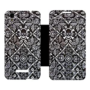 Phone Candy Designer Flip Cover with hi-res printed Vinyl sticker wrap-around for Lenovo A7000