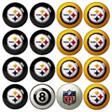 NFL Pittsburgh Steelers Home Versus Away Team Billiard 8-Ball Set