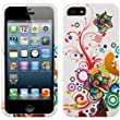 Coque de protection arri�re pour iPHONE 5TH generation 5�me g�n�ration Snapon Housse (White Pink Floral Pattern)