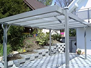 aktion aluminium carport luxor ral 9016 wei komplettbausatz inkl polycarbonat dacheindeckung. Black Bedroom Furniture Sets. Home Design Ideas