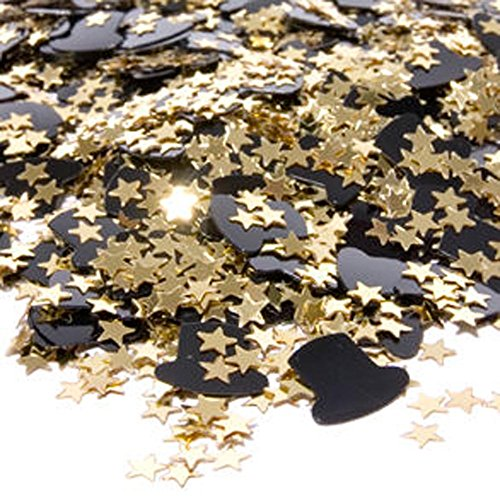 Top Hats & Gold Stars Confetti