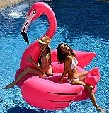 """Kangaroo's Gigantic Flamingo Pool Float; 80"""" Inflatable Raft"""
