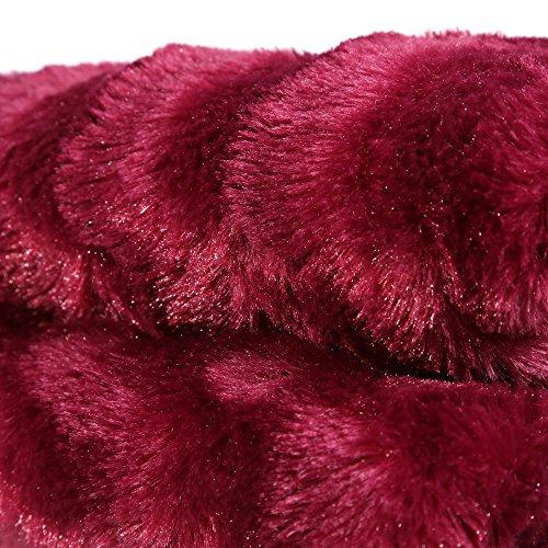 Manta sofá vino poliester 125 x 150 cm