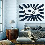 denoda-Plattenspieler-Wandtattoo-Silber-71-x-50-cm-Wandsticker-Wanddekoration-Wohndeko-Wohnzimmer-Kinderzimmer-Schlafzimmer-Wand-Aufkleber