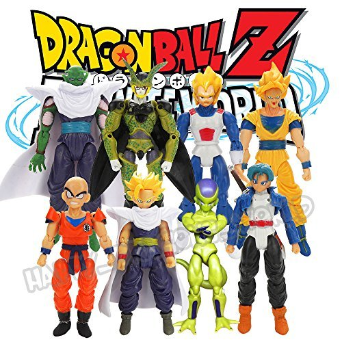 New 8Pcs Dragon Ball Z Joint Movable Action Figure DBZ Goku Trunks Piccolo Anime Toy by TrustyTrade