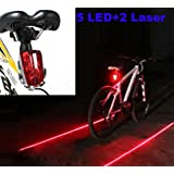 LED Bike Light Bicycle Rear Tail Flashing Safety Warning Night Laser Bulb Lamp (Color: red)