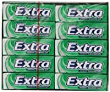 EXTRA Spearmint Sugar Free Chewing Gum 10 Pellets (Pack of 30)