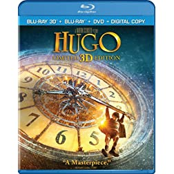 Hugo (Three-disc Combo: Blu-ray 3D / Blu-ray / DVD / Digital Copy)