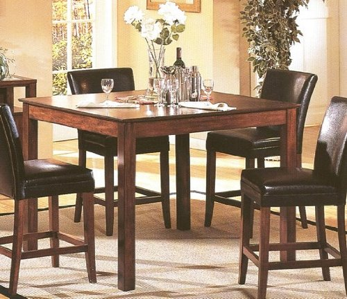 Buy Low Price Acme Furniture 5pc Wood Counter Height Dining Table 4 Bar