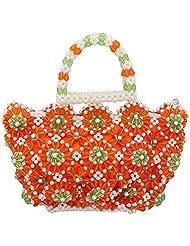 Virali Rao Women's Hand-held Bag, Orange And White