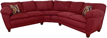 Chelsea Home Furniture Amanda 2-Piece Sectional, Bulldozer Burgundy