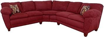 Chelsea Home Furniture Amanda 2-Piece Sectional, Bulldozer Burgundy