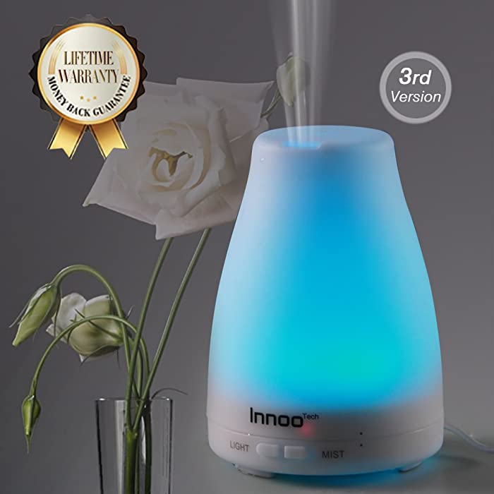 Essential Oil Diffuser, 3rd Version Cool Mist Aroma Humidifier Aromatherapy