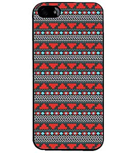 PrintDhaba Tribal Pattern D-5470 Back Case Cover for APPLE IPHONE 4S (Multi-Coloured)