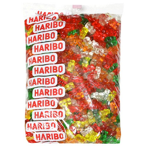 Haribo Gummy Candy, Sugarless Gummy Bears, 5-Pound Bag