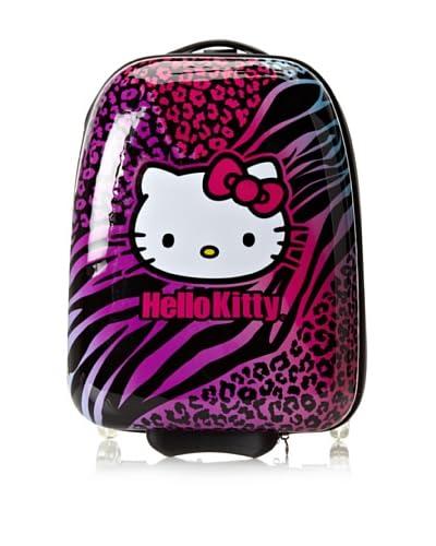 Hello Kitty Kid's Animal Print ABS Luggage, Black Multi As You See