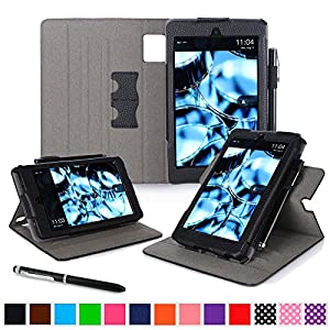 roocase Kindle Fire HD 6 2014 Case, new Kindle Fire HD 6 Dual View Folio Case with Sleep / Wake Smart Cover with Multi-Viewing Stand for All-New Fire HD 6 Tablet (2014), Black