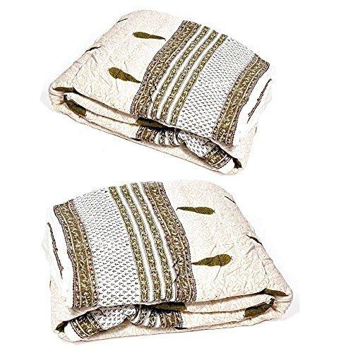 Diseño de Little India 2 piezas Juego de funda de edredón algodón Razai 1 blanco