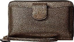 COACH Women\'s Box Program Leather Universal Pocket Phone Wallet LI/Gold Clutch