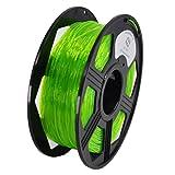YOYI 1.75MM Flexible TPU Filament 1.75mm TPU 3D Printer Filament, Diameter Tolerance +/- 0.03 mm, 0.8 KG Spool, 1.75 mm (Green) (Color: Green, Tamaño: 1.75mm)