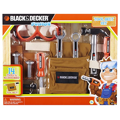 Black & Decker Junior 14 Piece Toy Tool Belt Set (Black And Decker Kids Tool Belt compare prices)